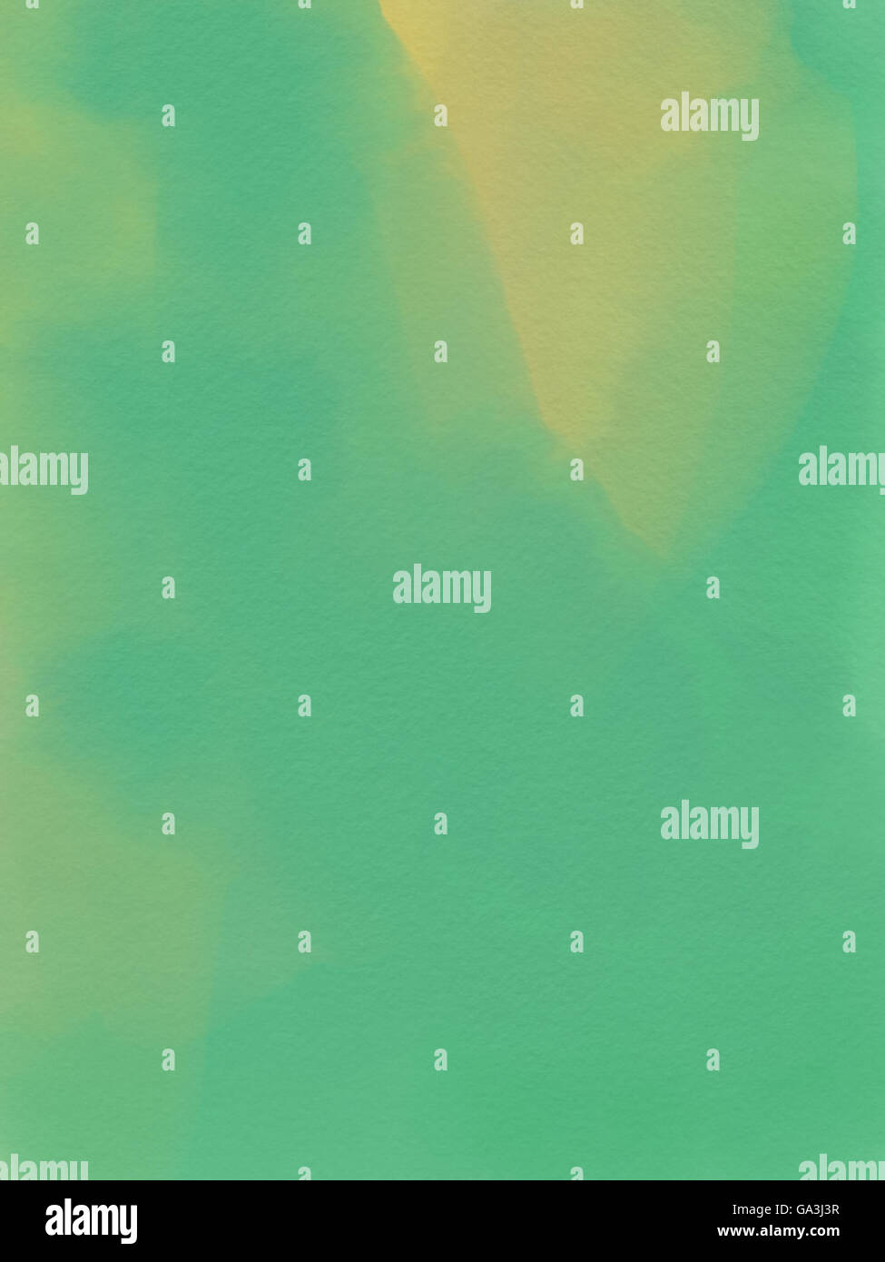 Abstract Acquerello - Sfondo verde e giallo Immagini Stock