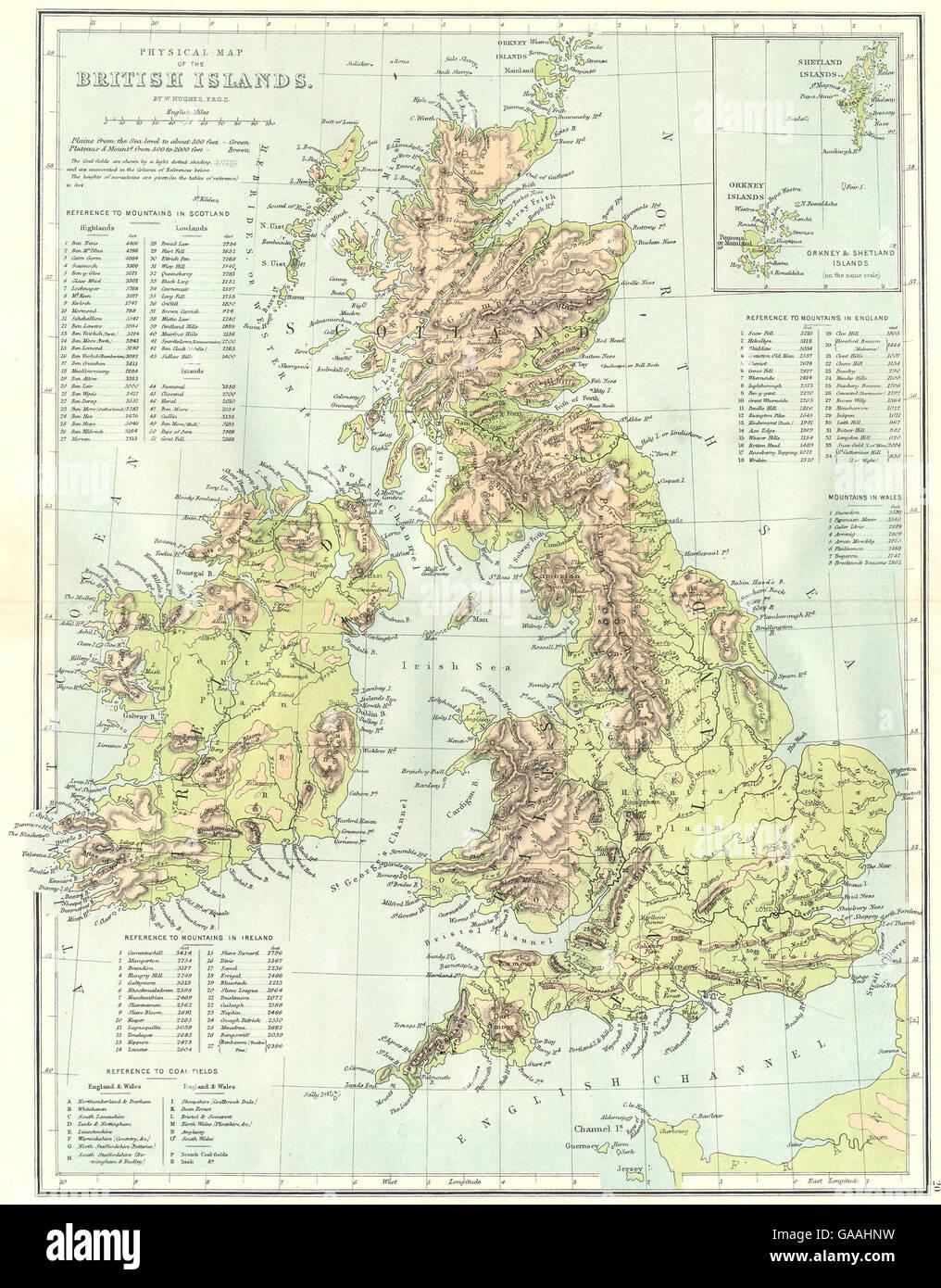 Irlanda Fisica Cartina