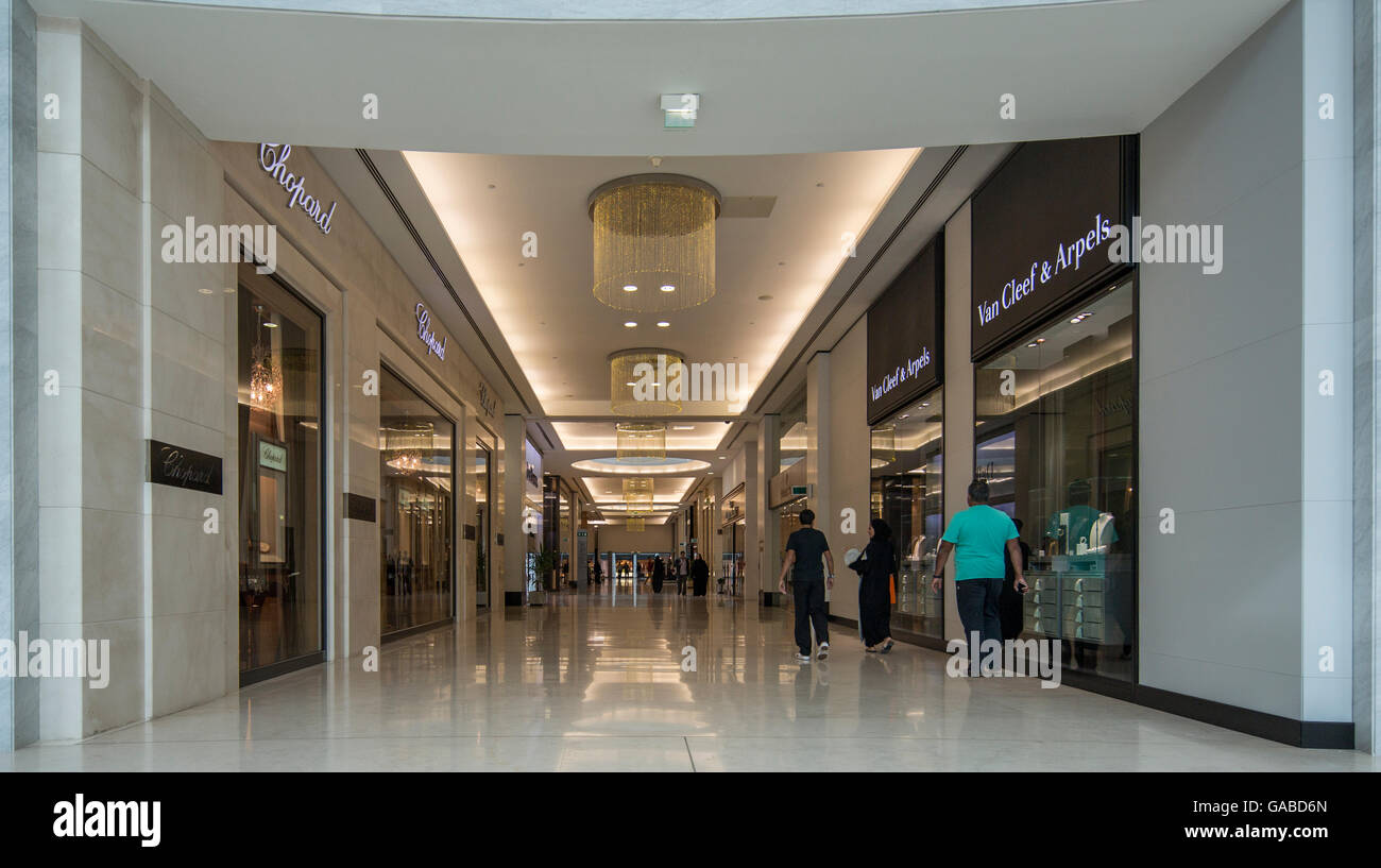 MODA Mall, Bahrain World Trade Center, Manama, Bahrain. Immagini Stock