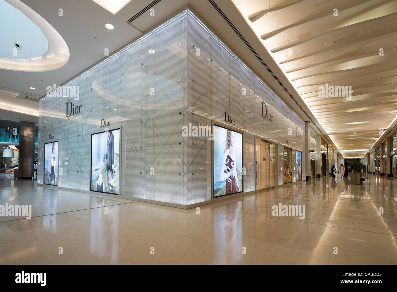 Dior shop, MODA Mall, Bahrain World Trade Center, Manama, Bahrain. Immagini Stock