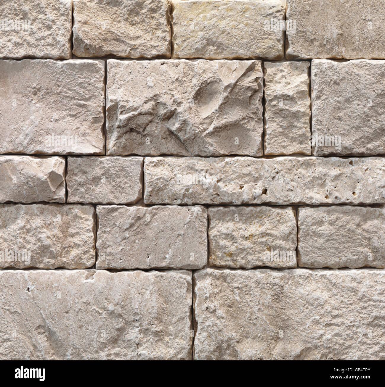 L'avorio durango splitface piastrelle, esterno di finitura della pietra, texture, sfondo Immagini Stock