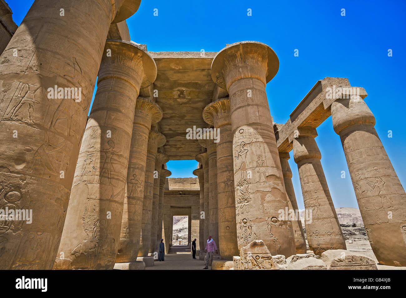 Arcade, Ramesseum Tempio di Luxor, Egitto Immagini Stock