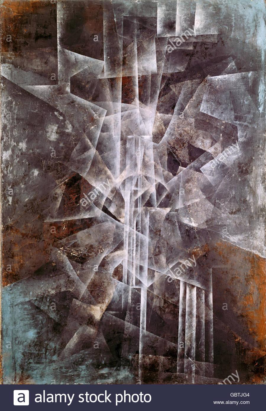 """Belle arti, inverno, Fritz (1905 - 1976), pittura, 'luce pilastri"""", la Kunsthalle di Mannheim, Germania, Immagini Stock"""