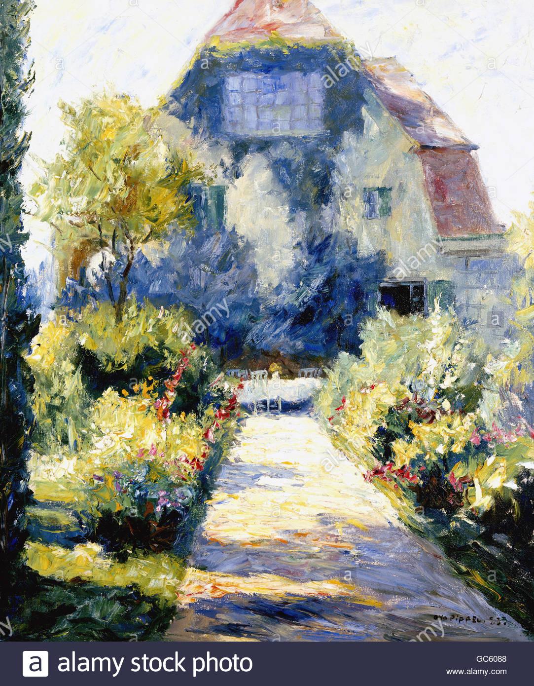 """Belle arti, Pippel, Otto (1878 - 1960), """"ein Garten, pittura, 1923, artista del copyright deve anche essere Immagini Stock"""