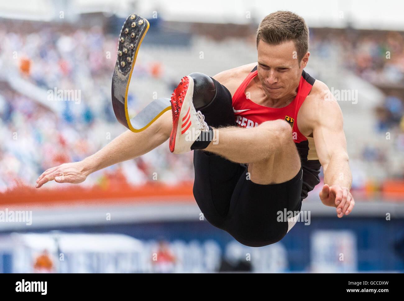 Amsterdam, Paesi Bassi. 9 Luglio, 2016. Amsterdam, Paesi Bassi. 09 Luglio, 2016. La Germania Markus Rehm compete Immagini Stock