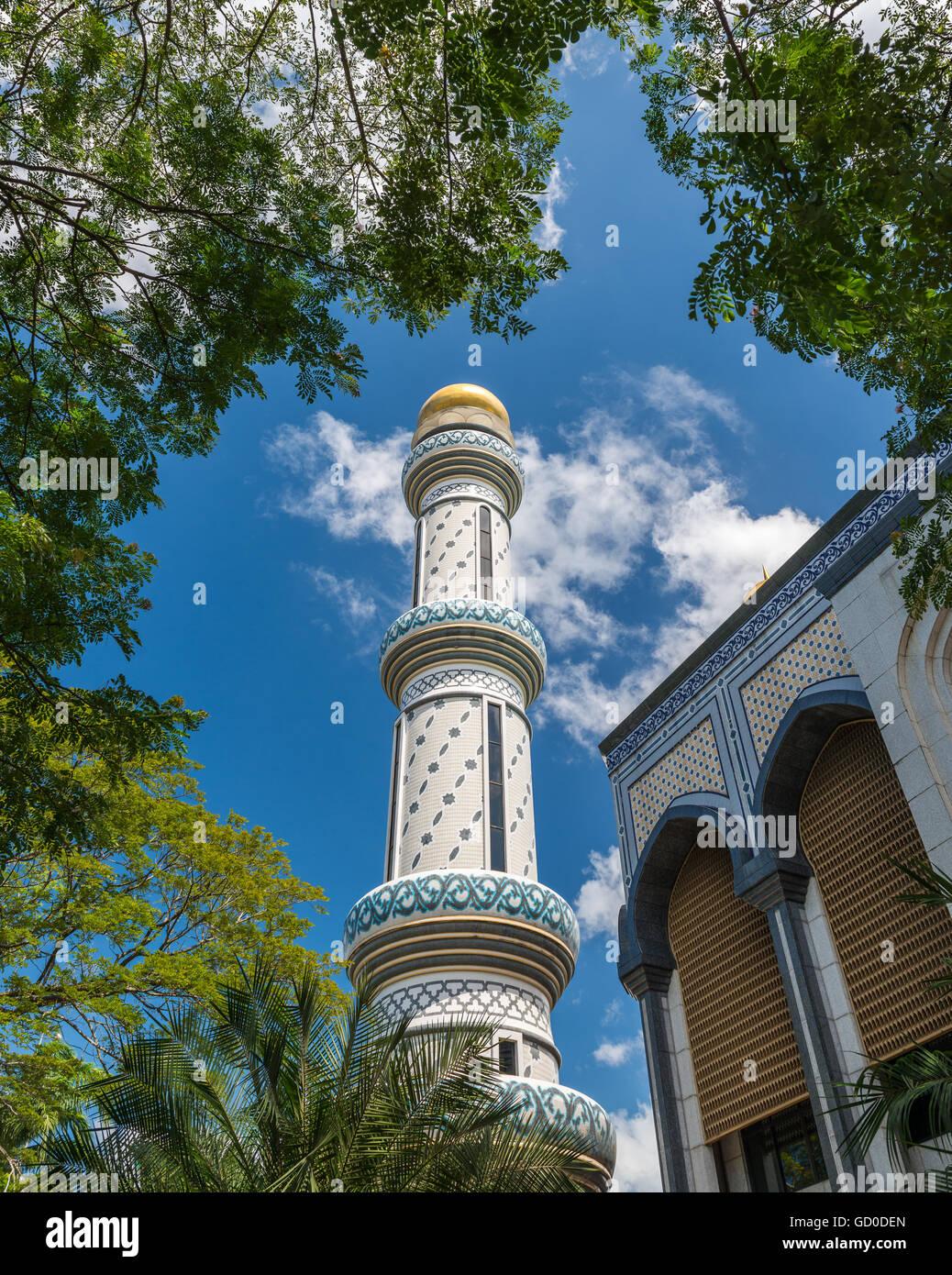 Jame'ASR Hassanil Bolkiah moschea in Bandar Seri Begawan, Brunei. Immagini Stock