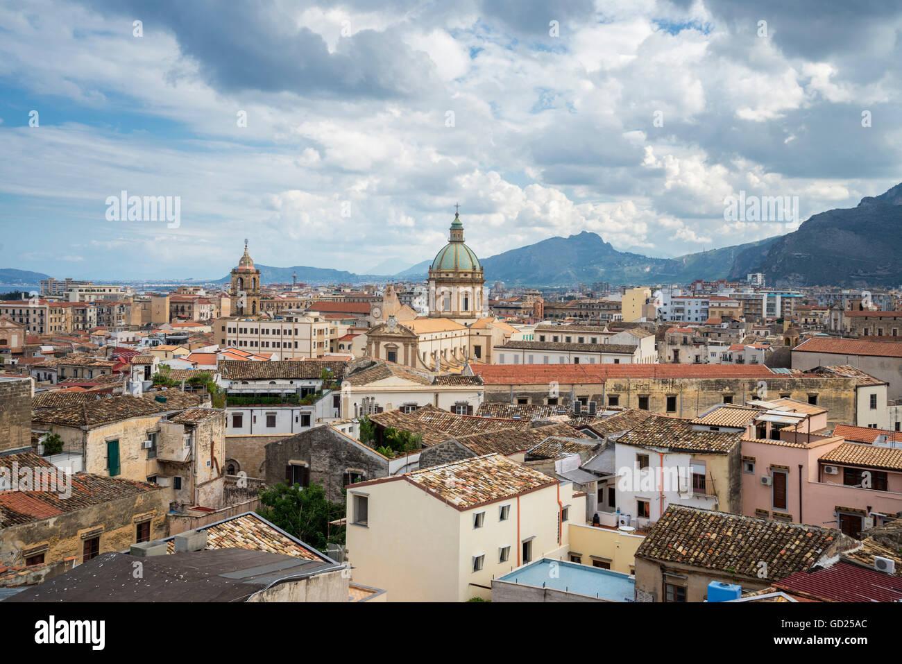 Cityscape, Palermo, Sicilia, Italia, Europa Immagini Stock