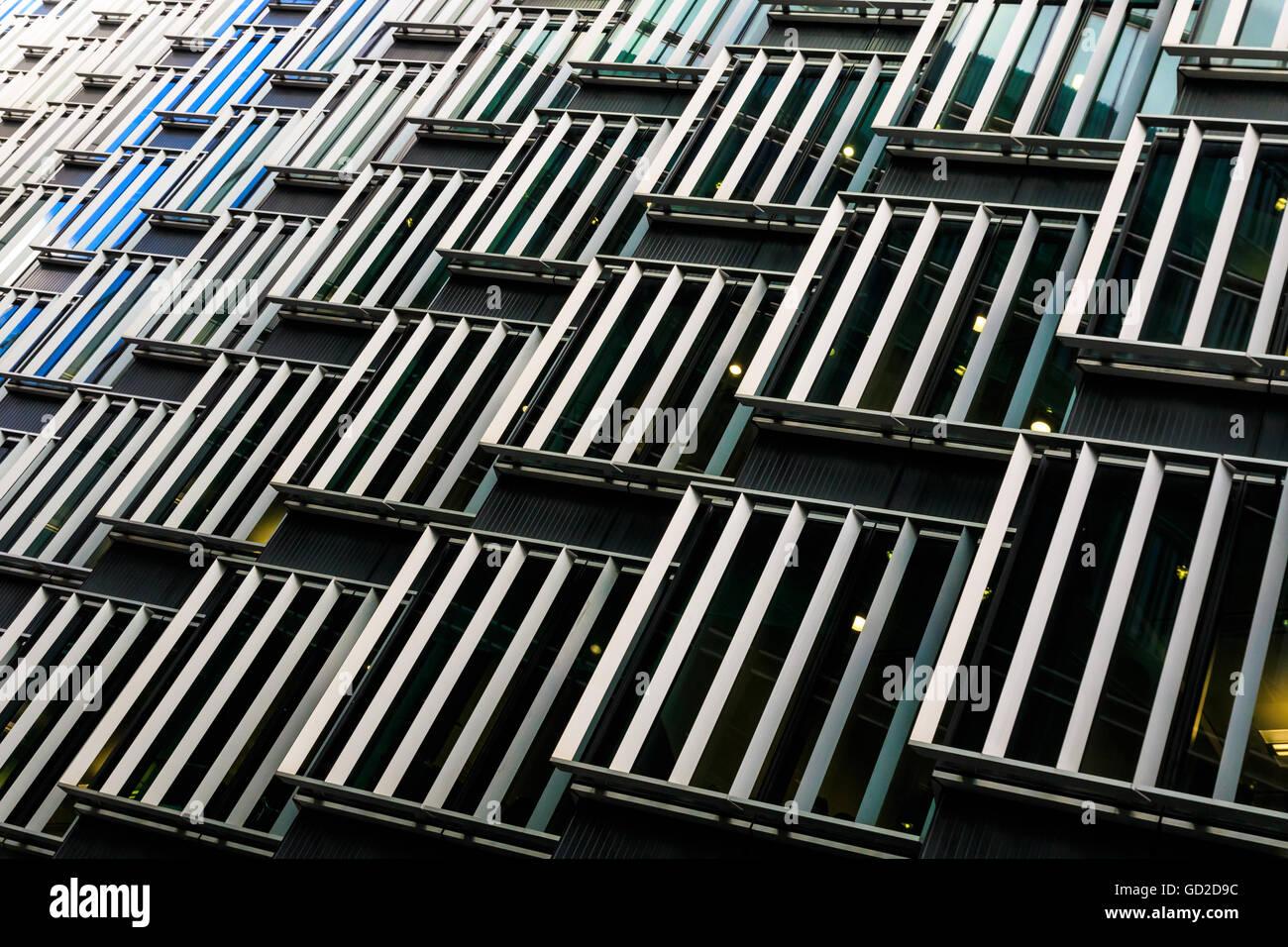 Abstract architettura di un edificio di moderna costruzione Immagini Stock