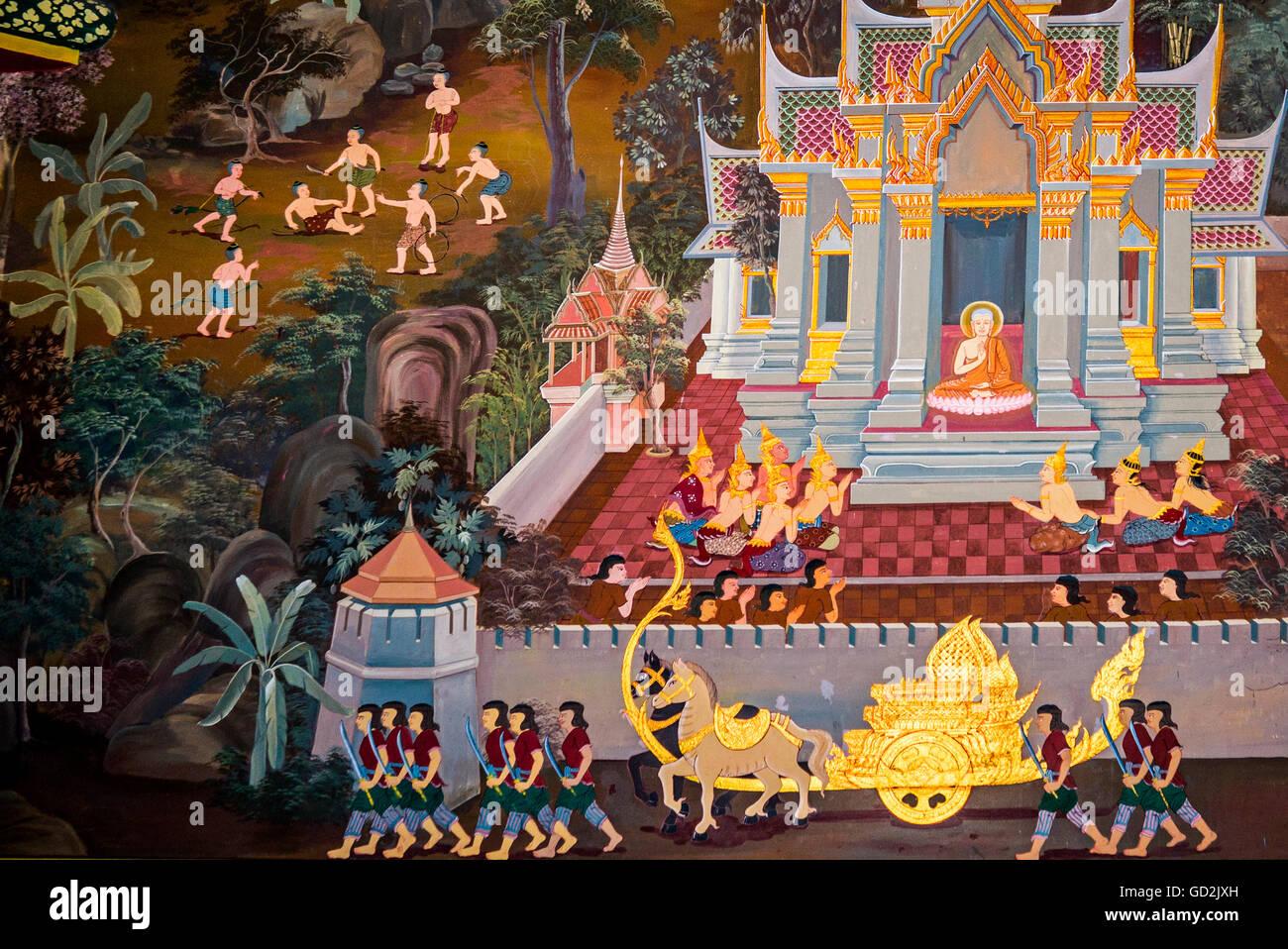 Belle arti, l'arte religiosa, Thailandia, Sud della Thailandia, Asia, buddismo, il Mare delle Andamane, Sud Immagini Stock