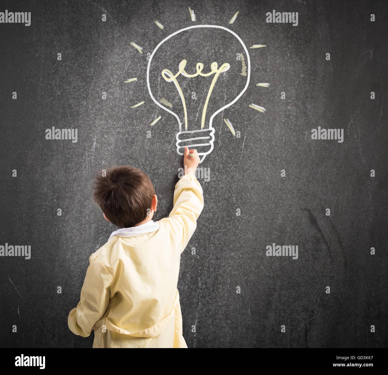 Bambino di genio Immagini Stock