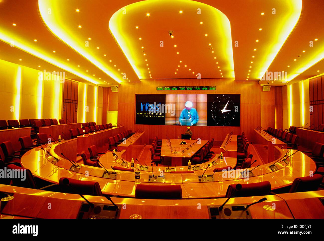 Infosys sala conferenze Immagini Stock