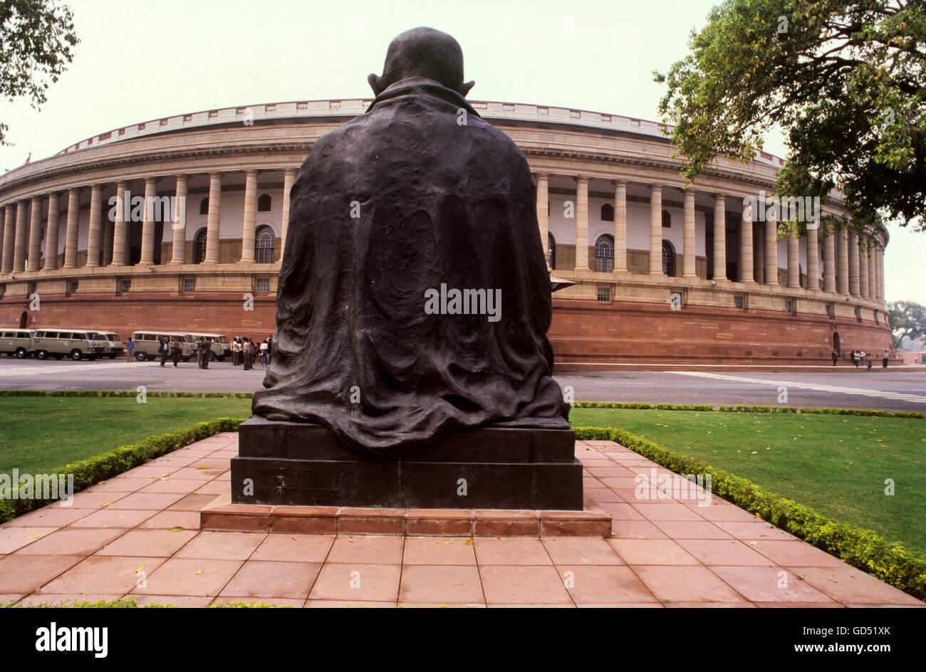 Statua del Mahatma Gandhi Immagini Stock