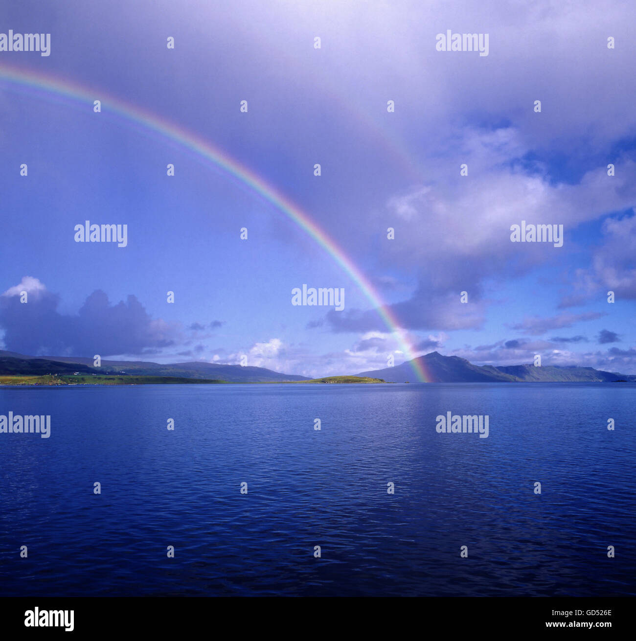 Regenbogen, Isola di Skye, Schottland, Grossbritannien, Europa Immagini Stock