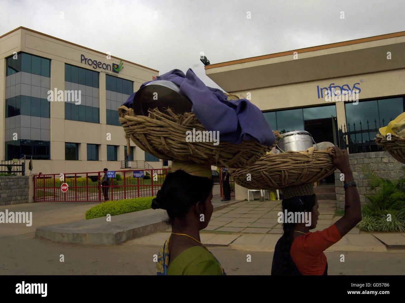 Infosys edificio Immagini Stock