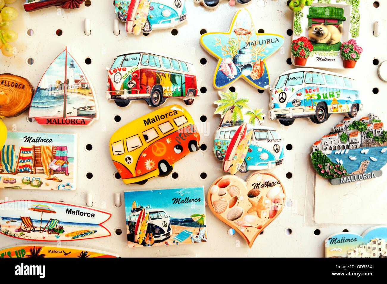Magneti per il frigo, Mallorca ( Maiorca ), Spagna, Europa Immagini Stock