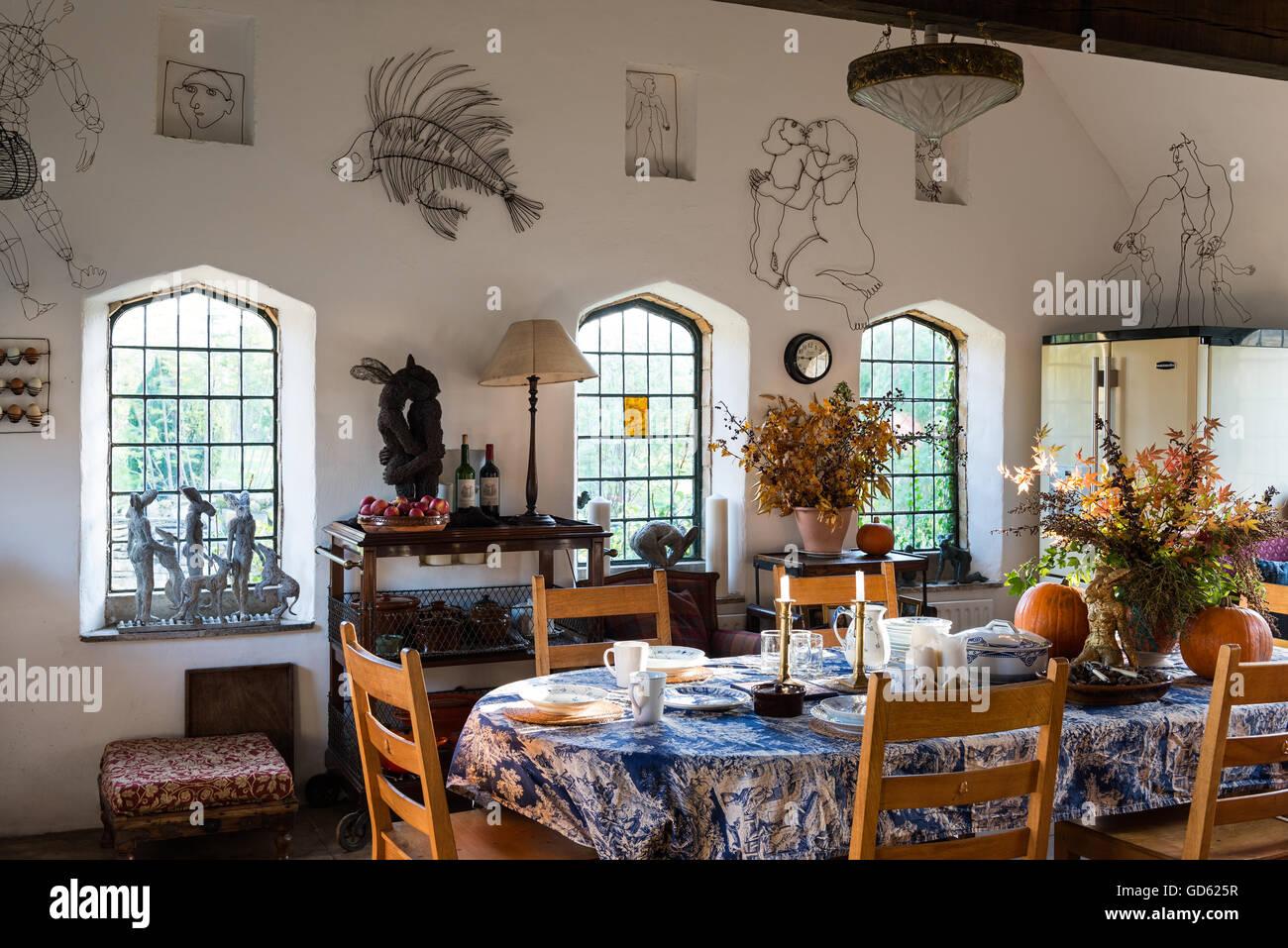 Sala Da Pranzo Rustica : Sensazione rustica grande cucina sala da pranzo adornata con sophie