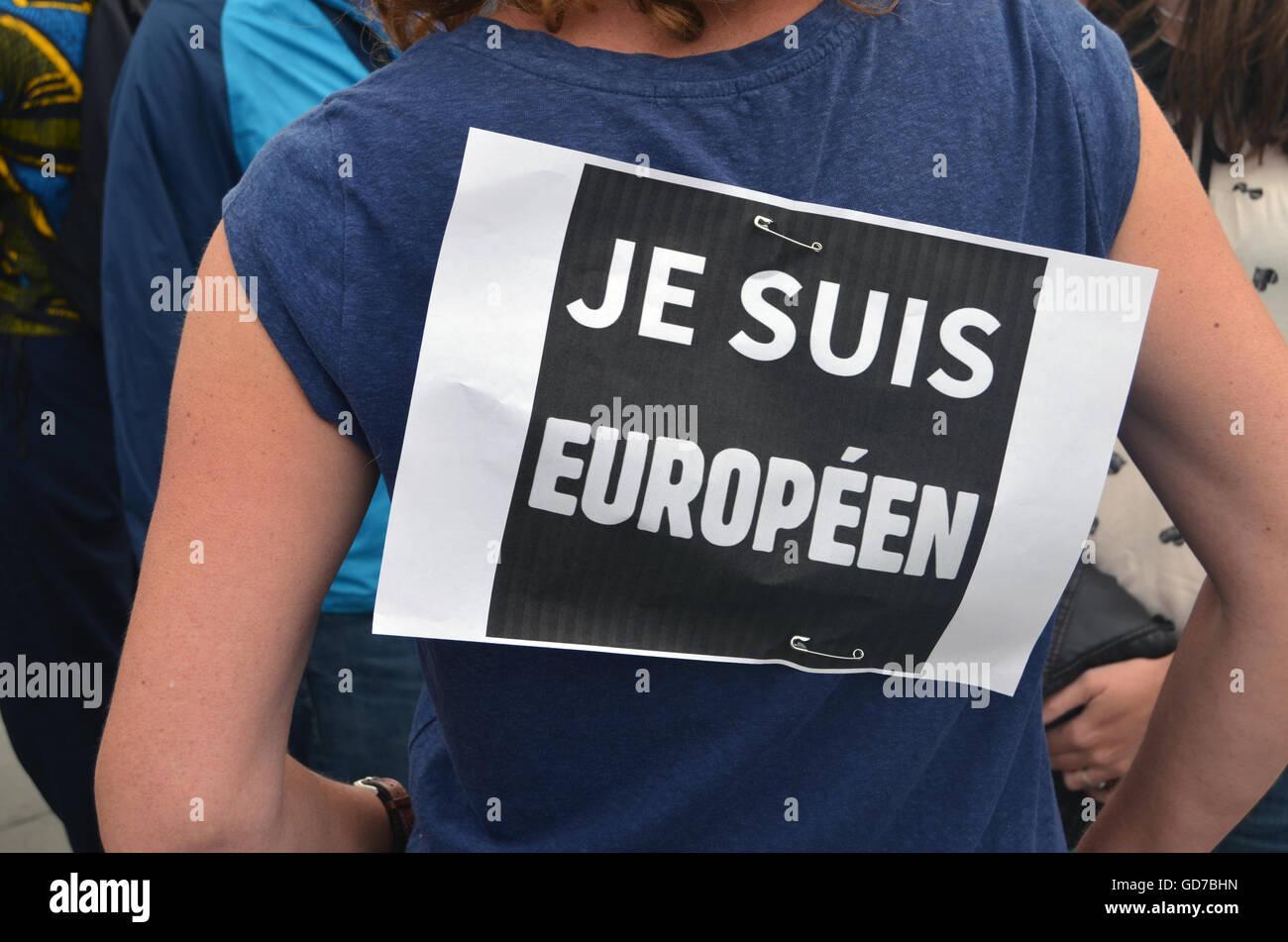 Pro Rally dell'UE tenutasi dopo il referendum Brexit votato per il Regno Unito per lasciare la UE, Norwich Luglio Immagini Stock