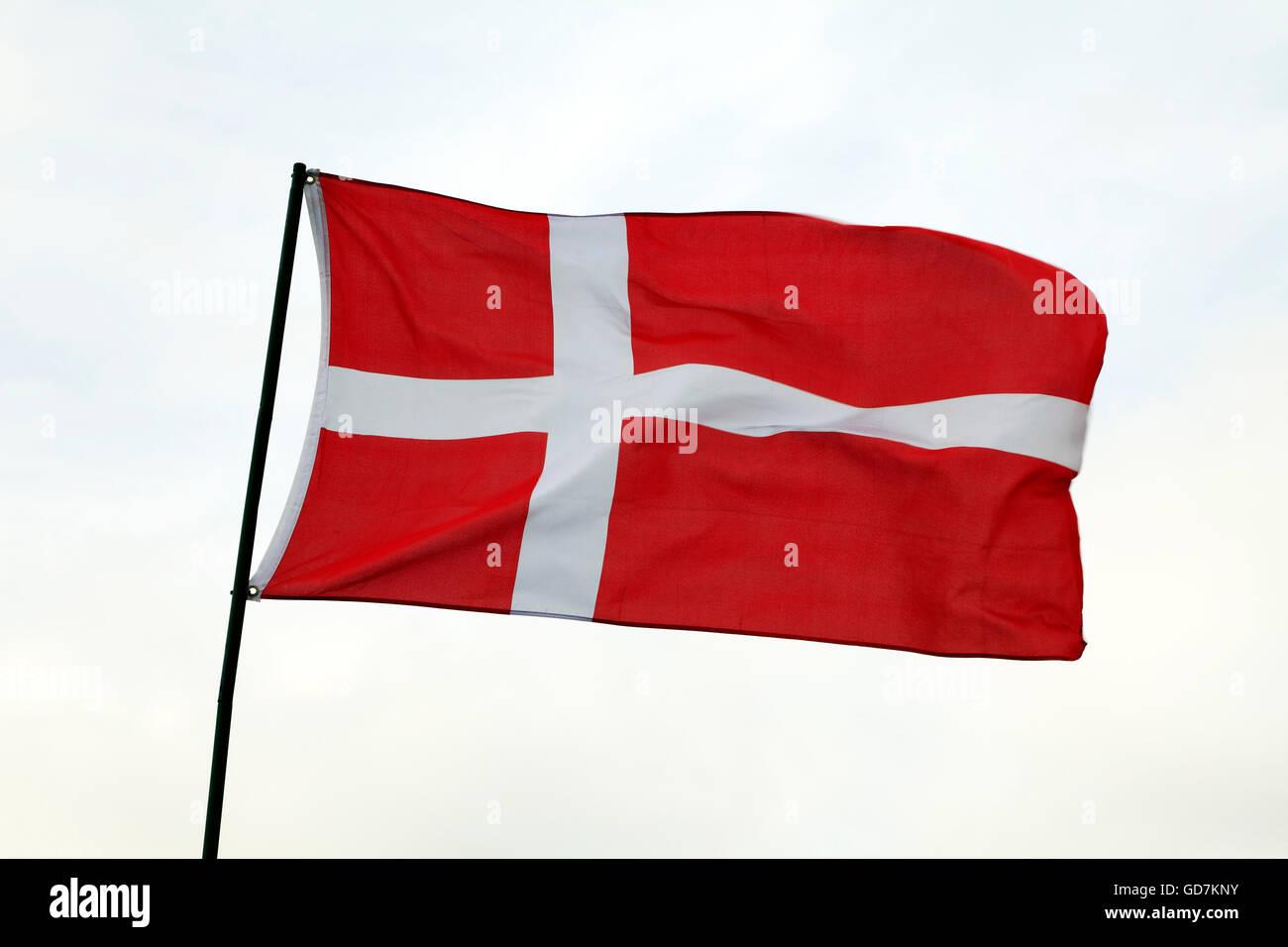 Bandiera Della Danimarca Banner Nazionali Di Danimarca Emblema
