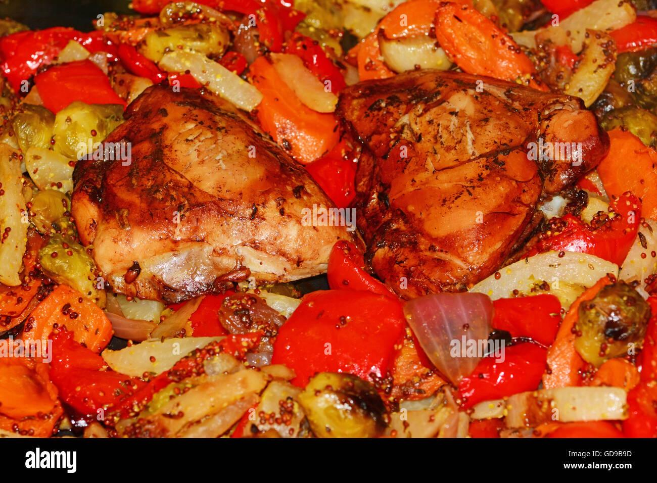 Piatto di pollo Immagini Stock