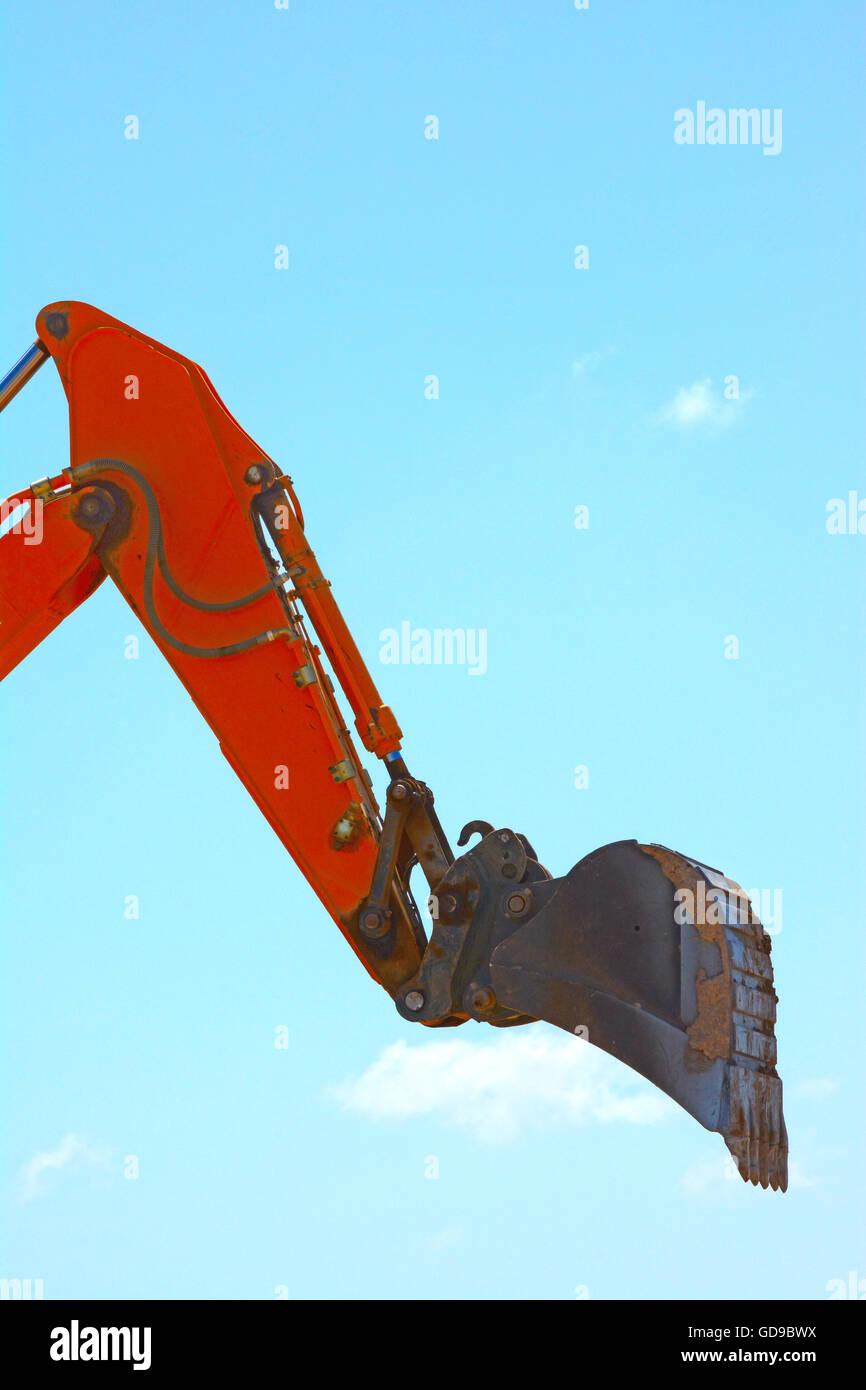 Benna di un escavatore Immagini Stock