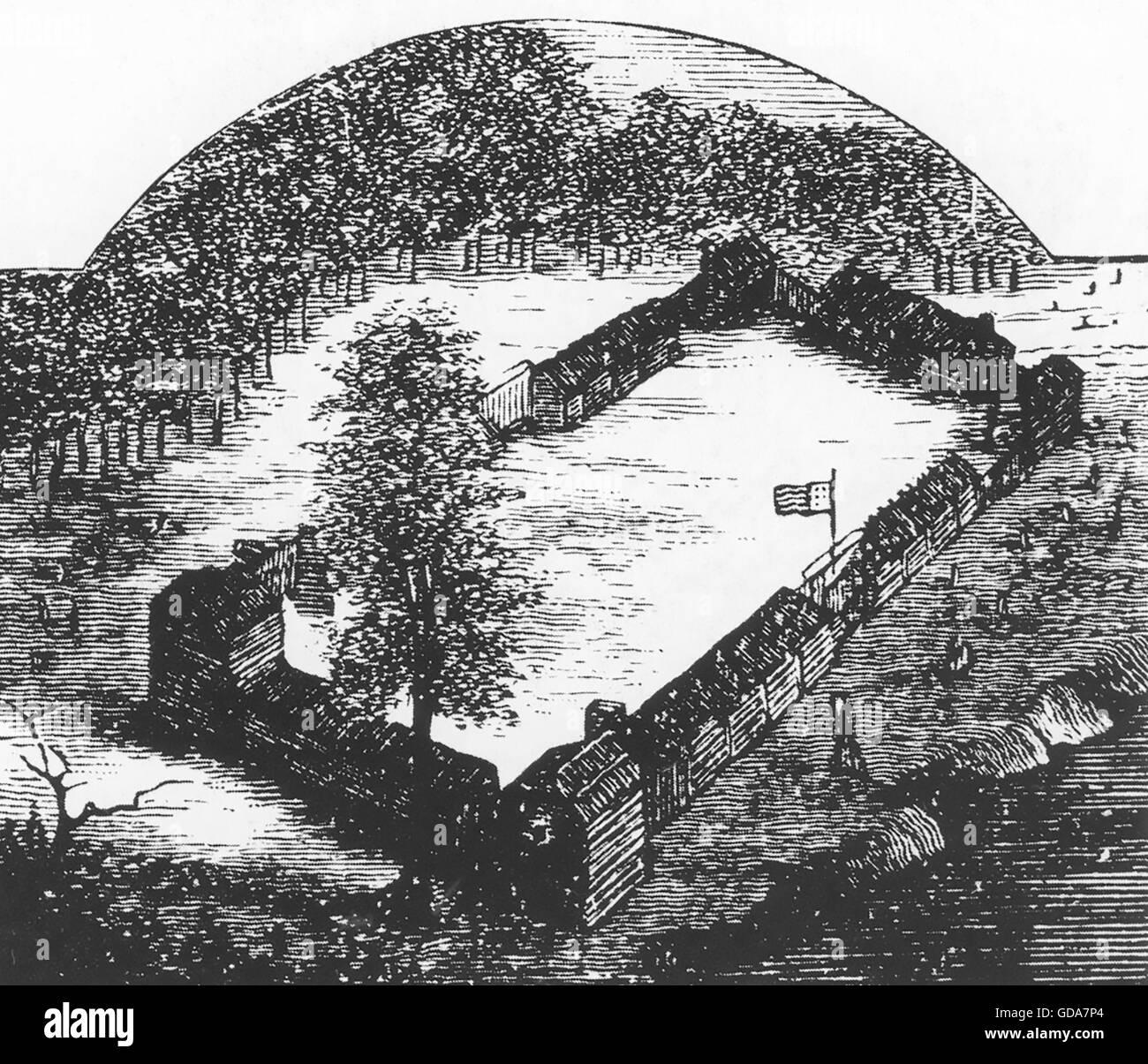 DANIEL BOONE (1734-1820) American frontiersman e uomo politico fondato il stockade insediamento di Bonnesborough Immagini Stock