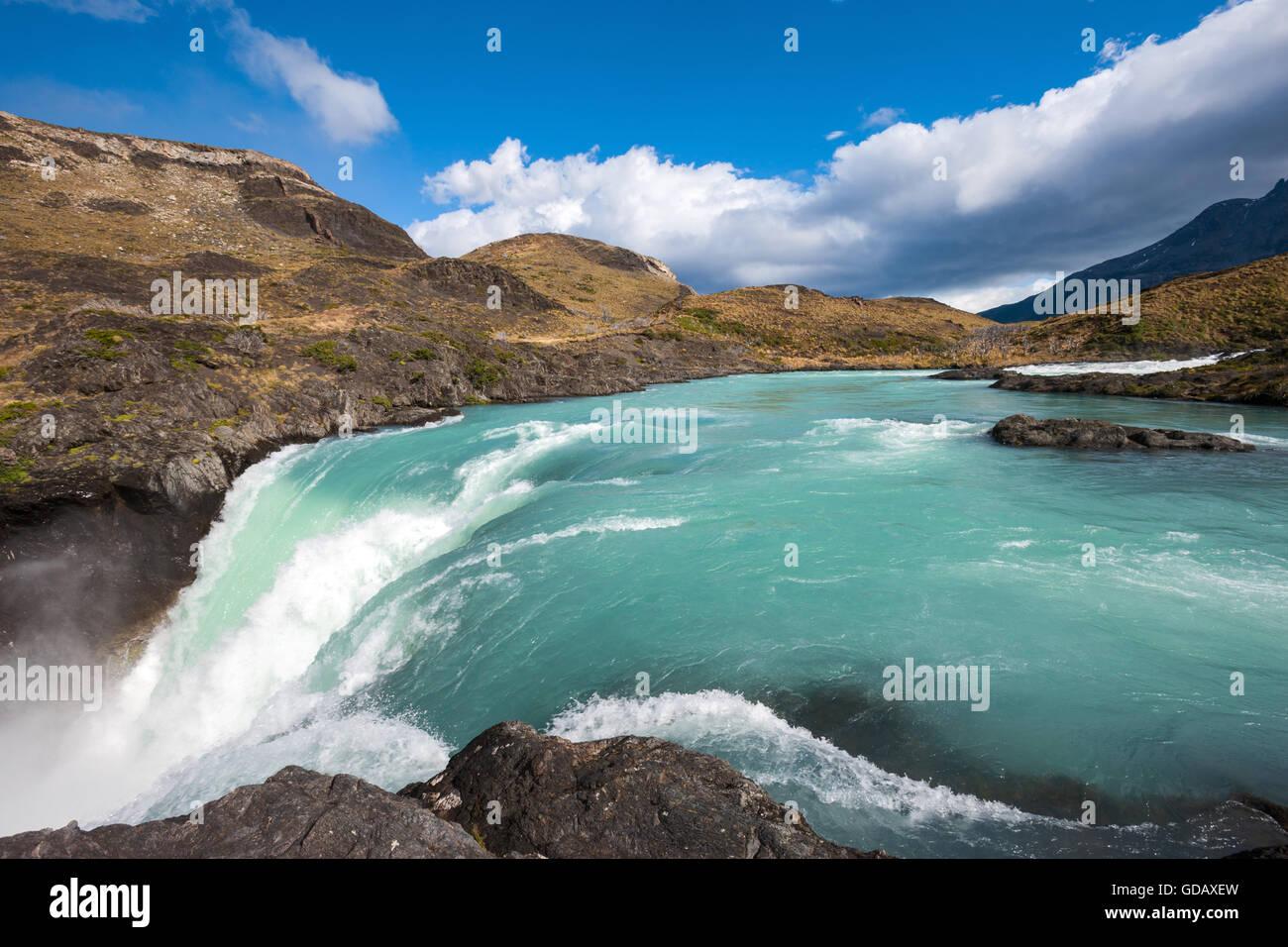 Salto Grande,Cile,Patagonia Immagini Stock