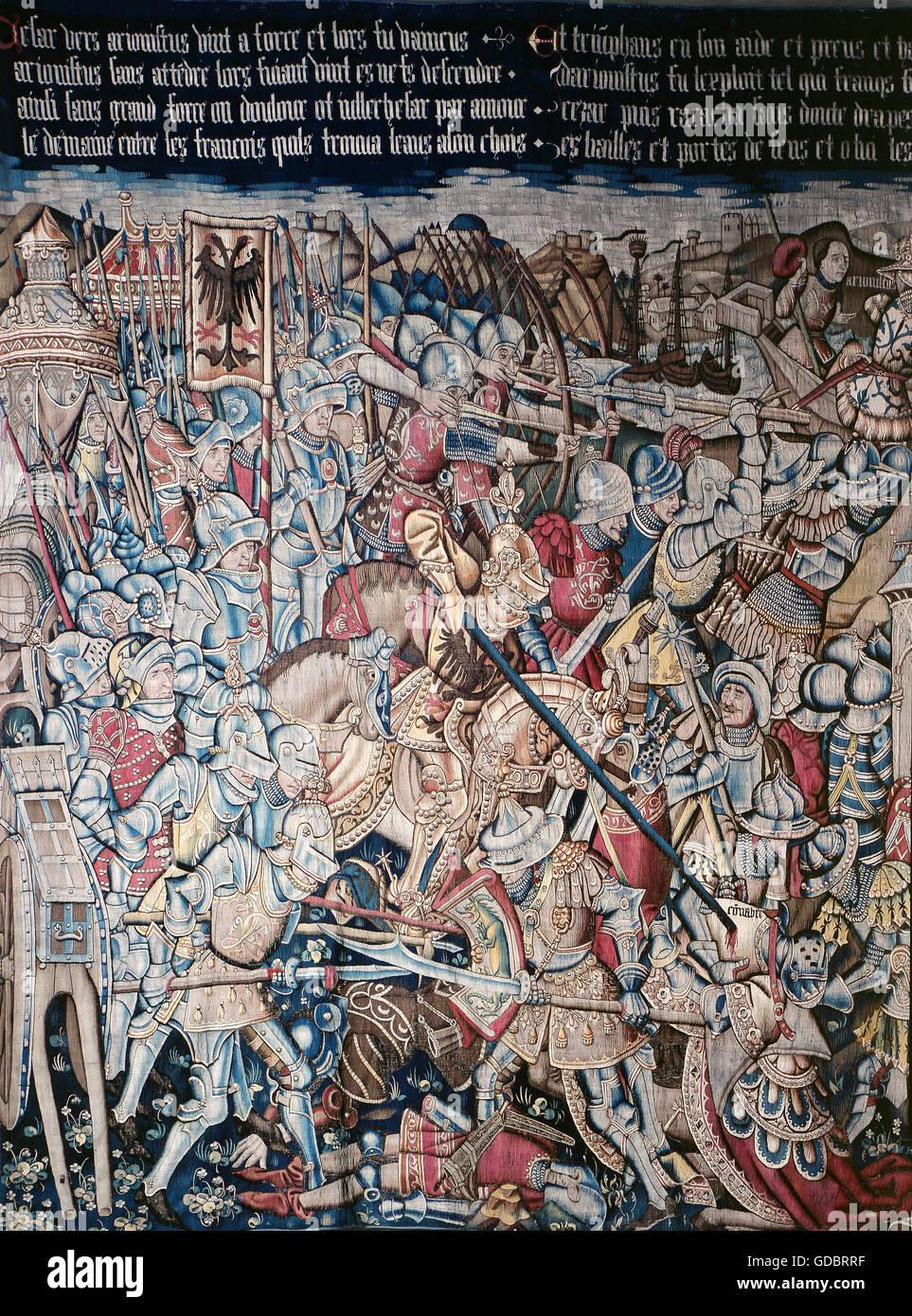 Cesare, Caio Giulio, 13.7.100 - 15.3.44 BC, politico romano, il dittatore 49 e da 47, battaglia contro gli Inglesi Immagini Stock