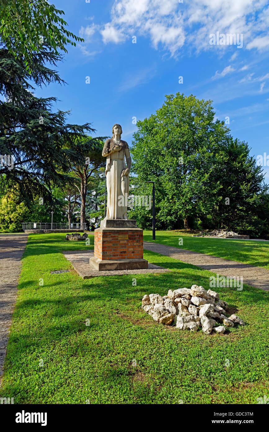 Terme Euganee,Parco Montirone,Statua di Igea - la dea della salute,1942,scultore,Paolo Boldrin Immagini Stock