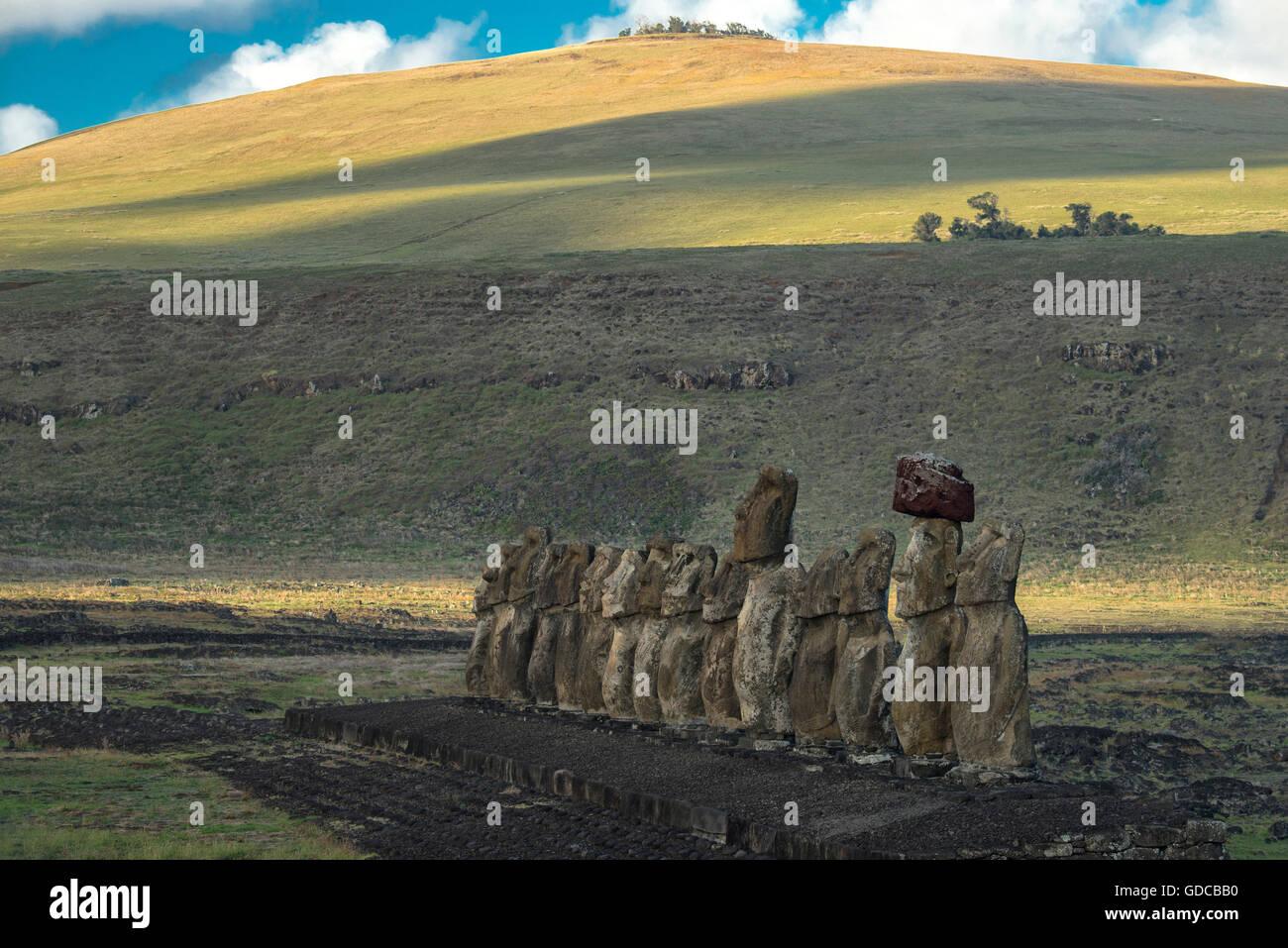 Sud America,Cile,l'Isola di Pasqua,Isla de Pasqua,South Pacific,,UNESCO patrimonio mondiale, Immagini Stock