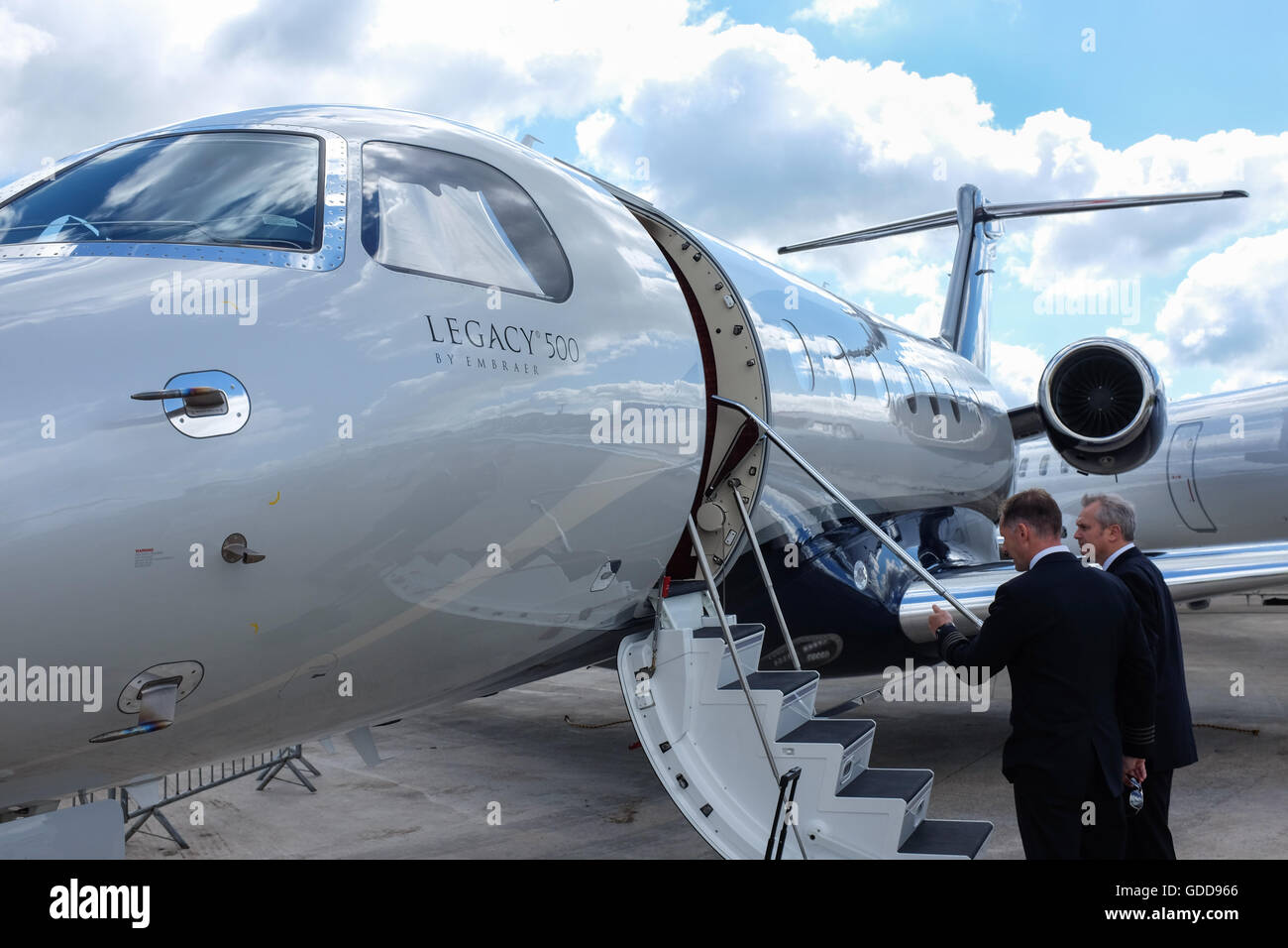 Il Legacy 500 business jet da Embraer. Immagini Stock