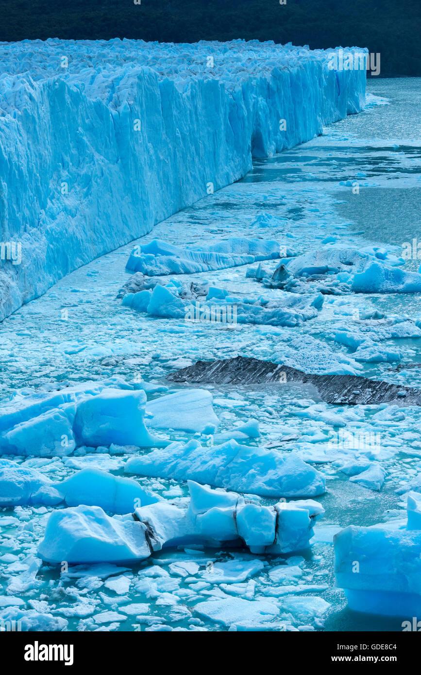 Sud America,l'Argentina,Patagonia,Santa Cruz, El Calafate,Los Glaciares,Parco Nazionale,Perito Moreno, ghiacciaio,Unesco,Giornate mondiali Foto Stock