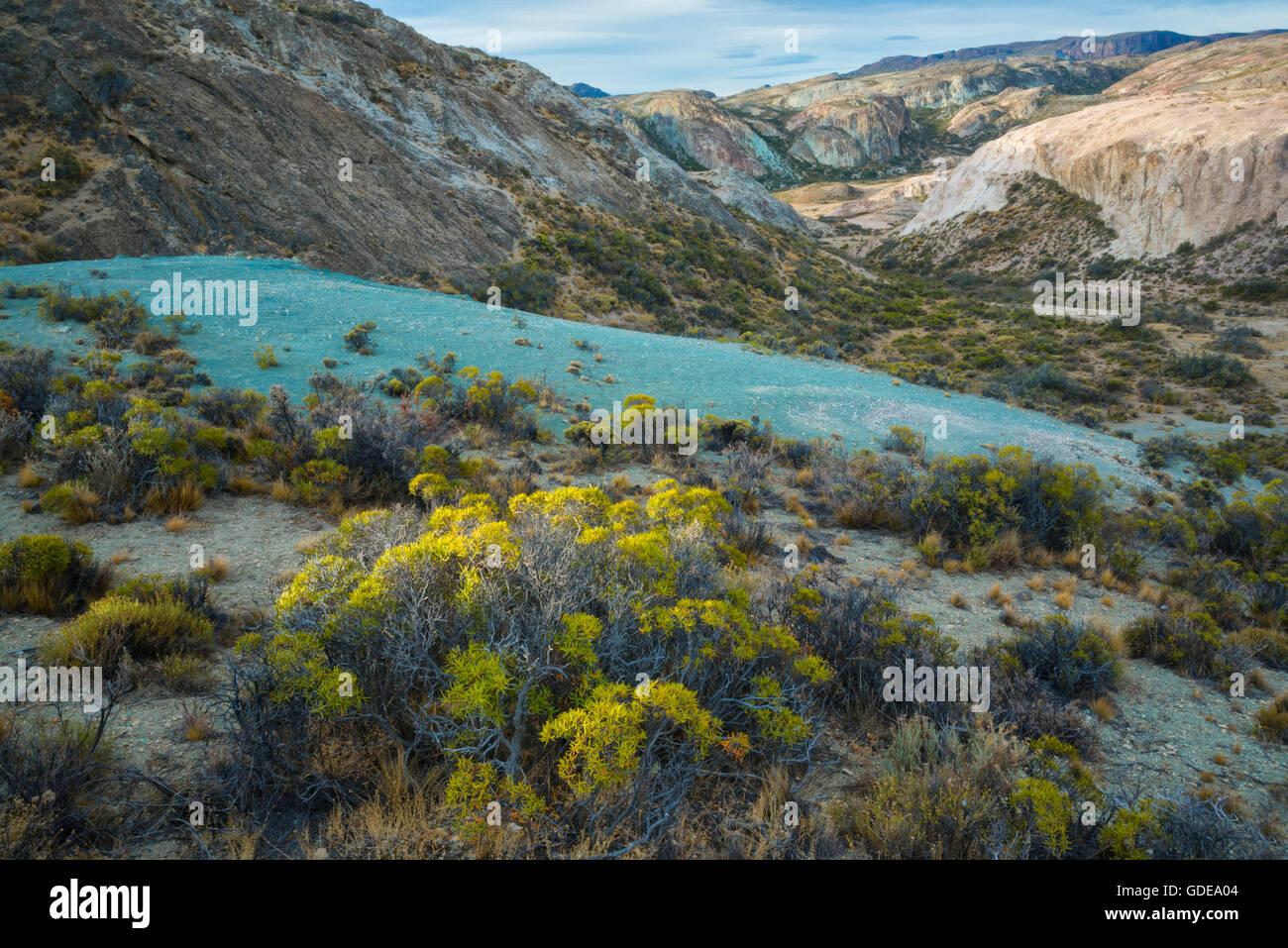 Sud America,l'Argentina,a Santa Cruz in Patagonia,Lago Posadas Immagini Stock