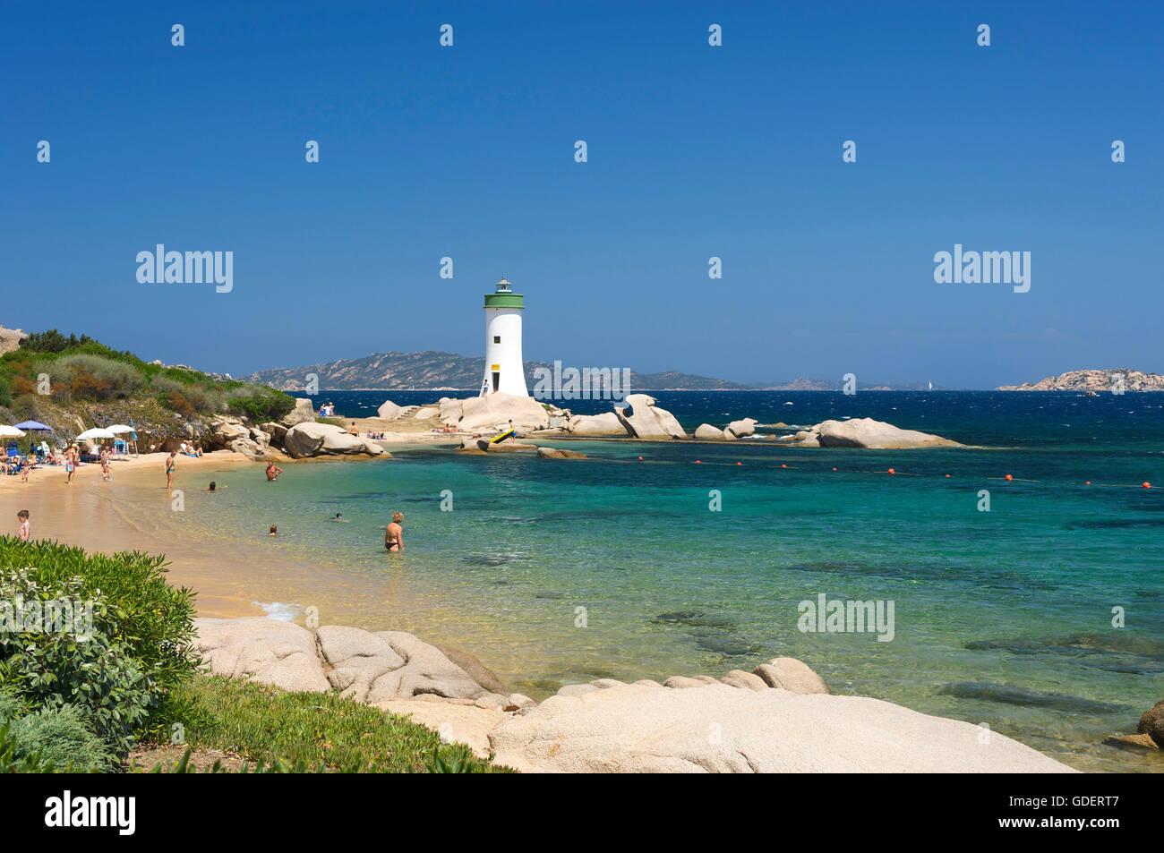 Faro, Porto Faro a Capo d'Orso, Sardegna, Italia Immagini Stock
