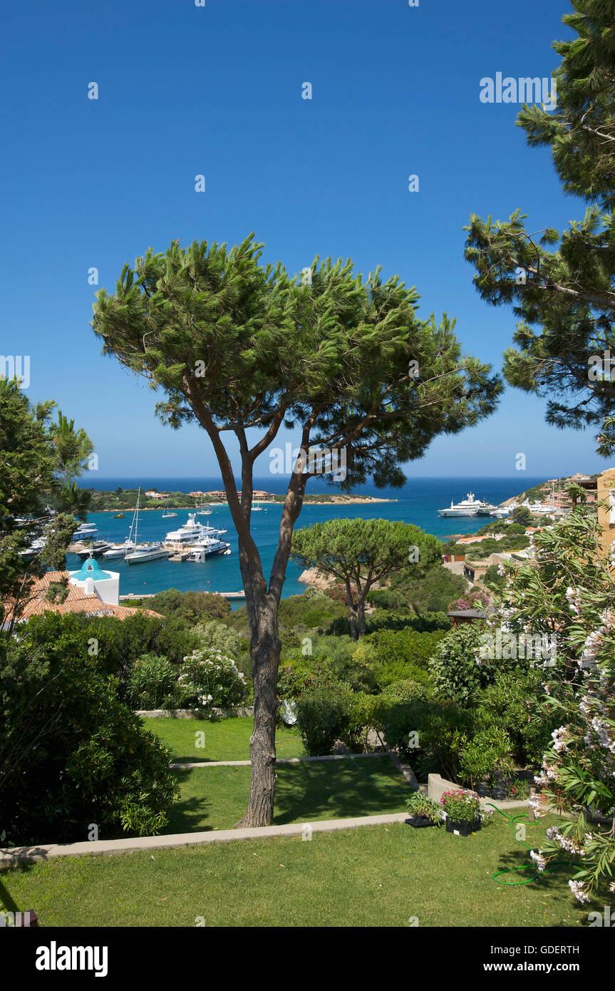 Porto Cervo e la Costa Smeralda, Sardegna, Italia Immagini Stock
