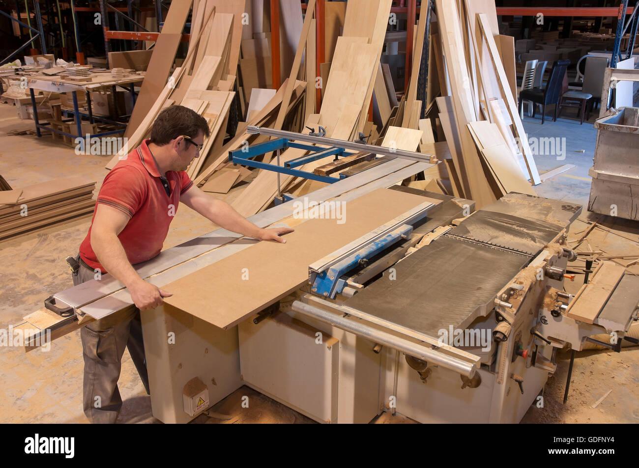 Mobili fabbrica, Lucena, in provincia di Cordoba, regione dell'Andalusia, Spagna, Europa Immagini Stock
