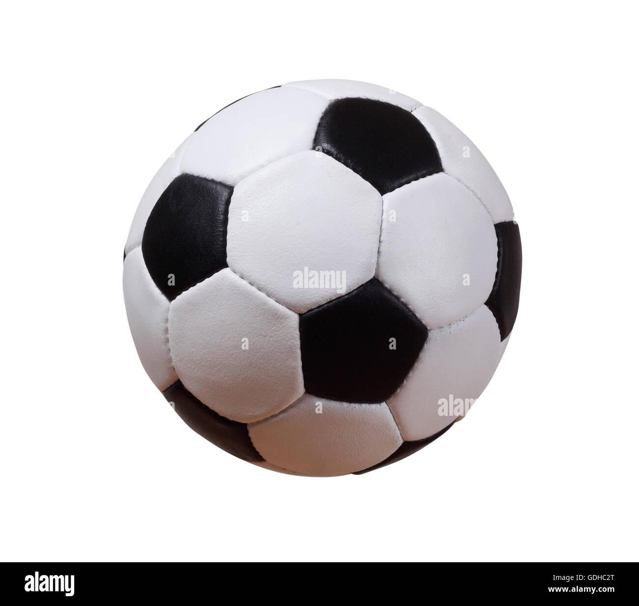 Isolate il calcio o il pallone da calcio con tracciato di ritaglio Foto Stock