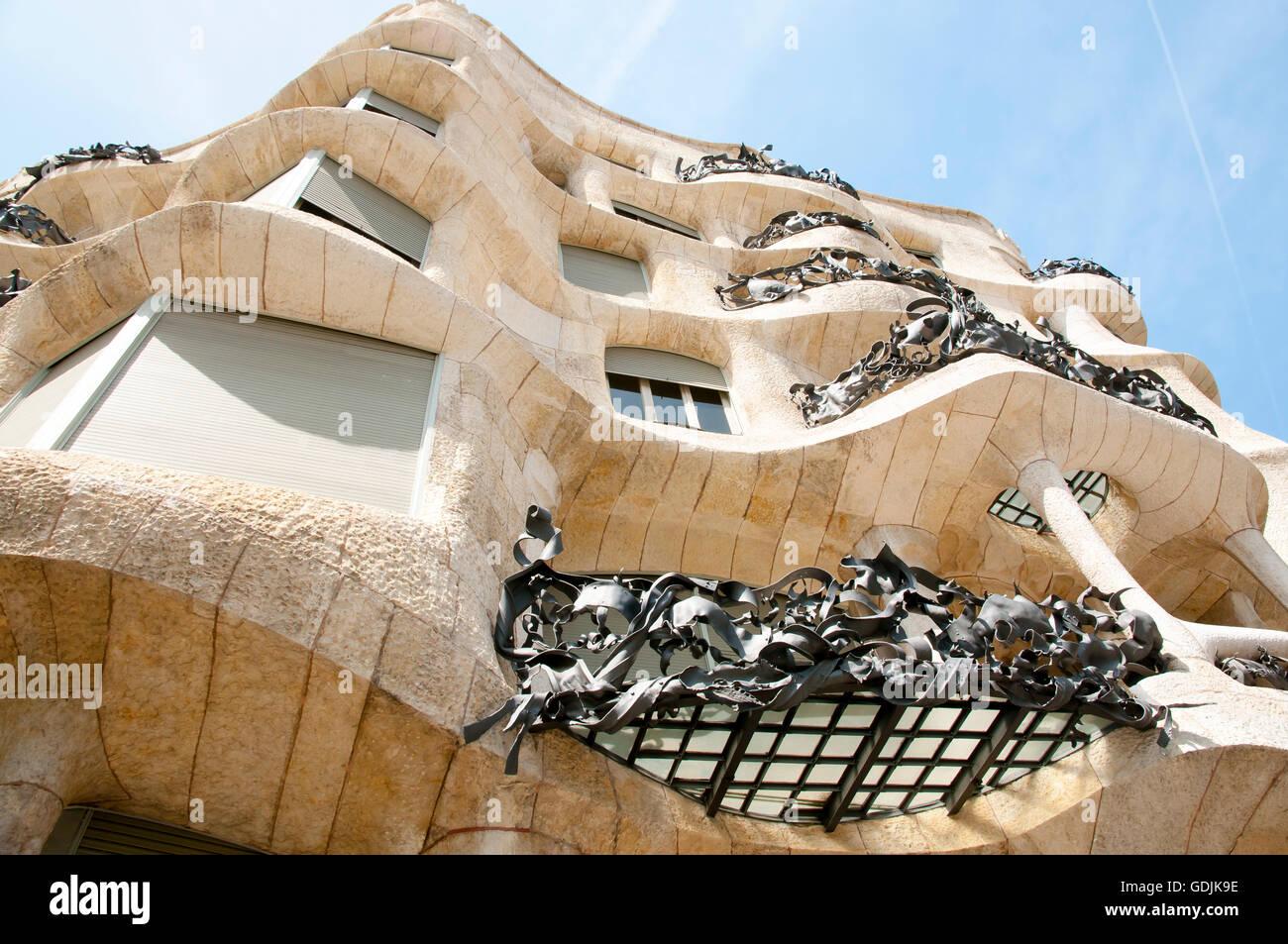 La Pedrera Casa Mila) - Barcellona - Spagna Immagini Stock