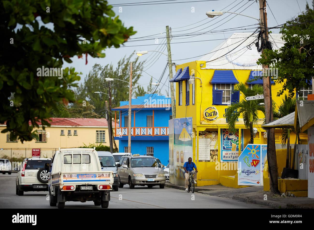 Le Piccole Antille Barbados parrocchia Saint Michael west indies capitale Bridgetown bar pub colori luminosi River Foto Stock