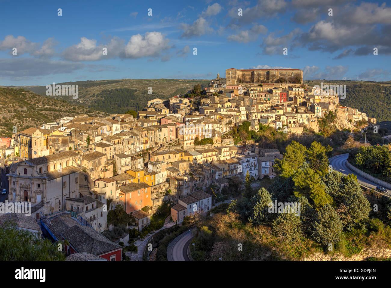 La città di Ragusa Ibla, Sicilia, Italia Immagini Stock