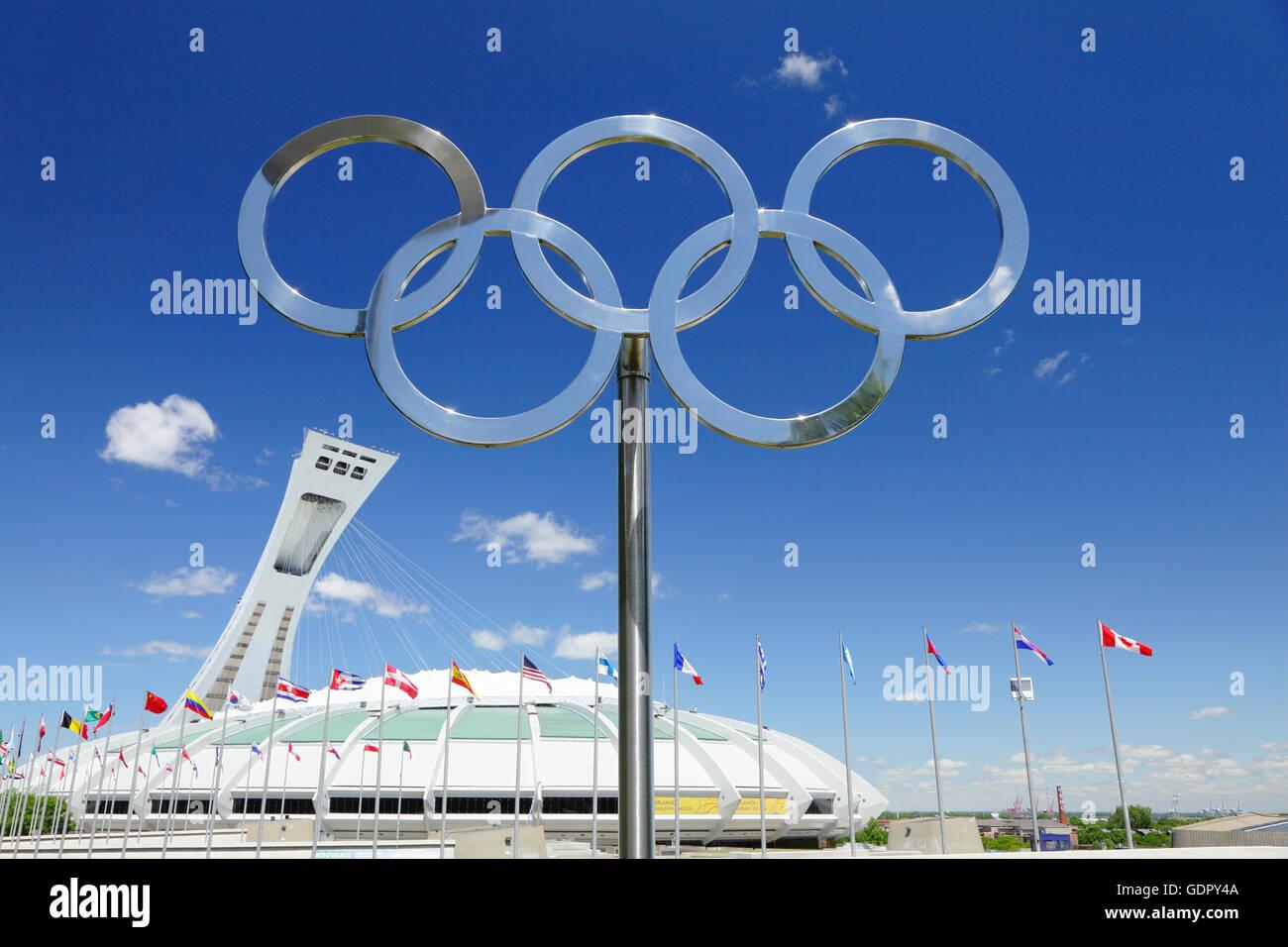 Le Stade Olympique, Stadio Olimpico, Montreal, Quebec, Canada Immagini Stock