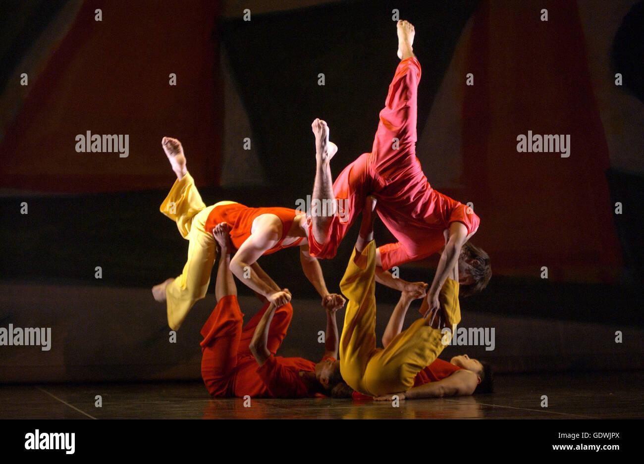 'Tempo Presente', Trisha Brown Dance Company Immagini Stock