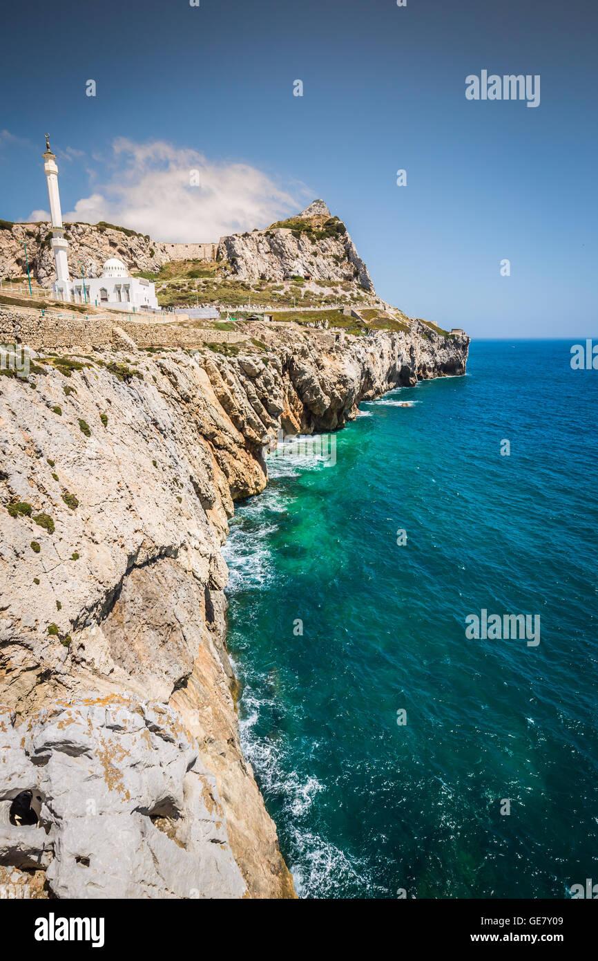 Gibilterra come visto dal punto di Europa Immagini Stock