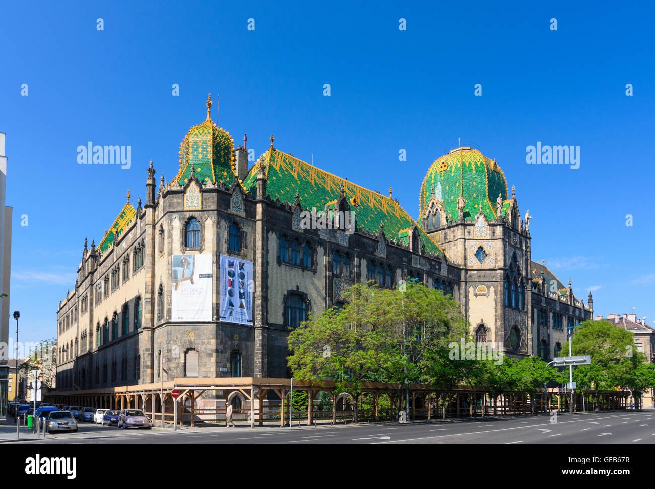 Budapest: Museo di Arti Decorative Arte industriale, Ungheria, Budapest, Immagini Stock