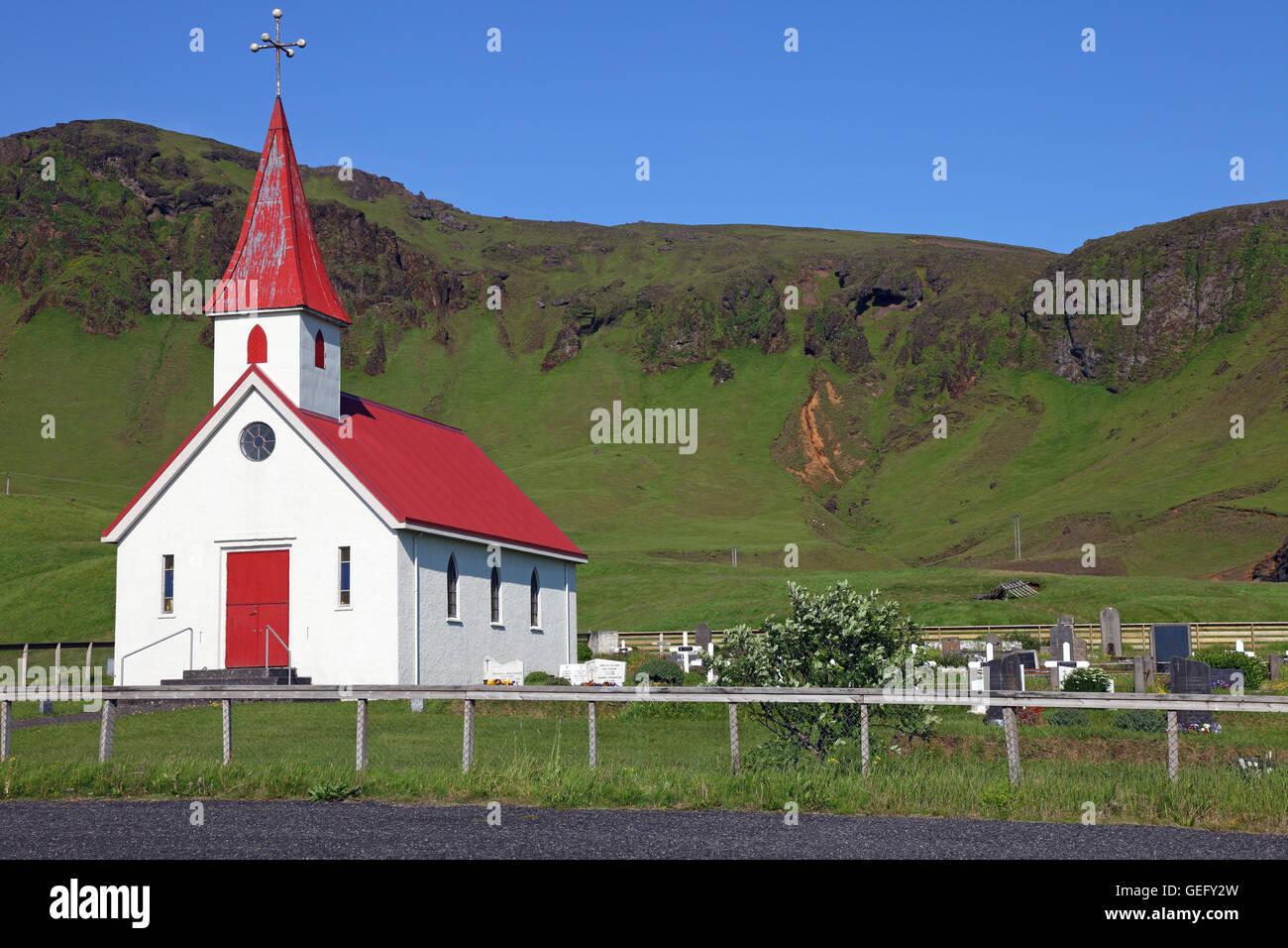 Reyniskirkja, Sudurland, Islanda Foto Stock