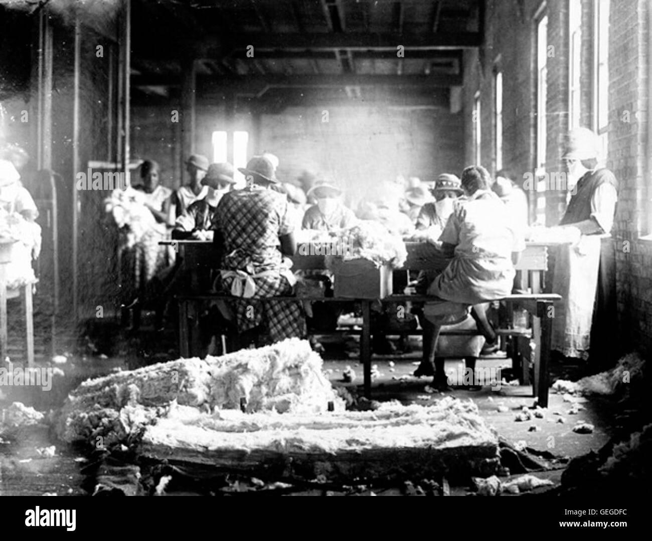 All'interno di un materasso FERA fabbrica - Pensacola Immagini Stock