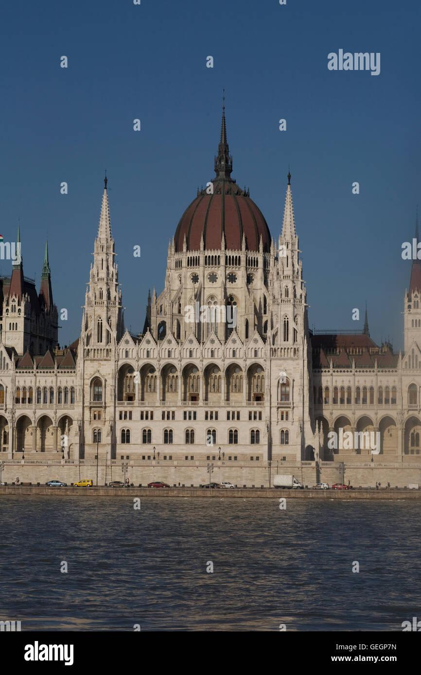 La sezione centrale del parlamento ungherese Immagini Stock