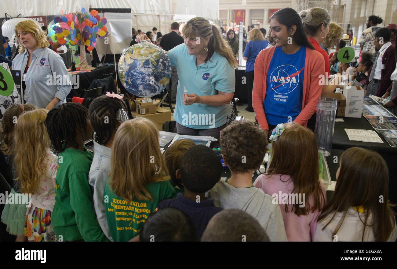 La NASA Earth Day 2016 04220010 Immagini Stock