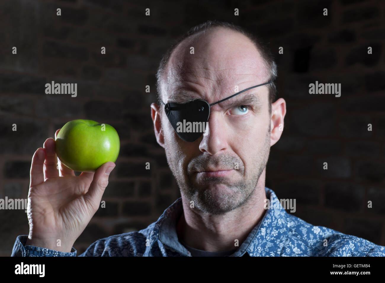 Apple patch occhio confusione. Immagini Stock