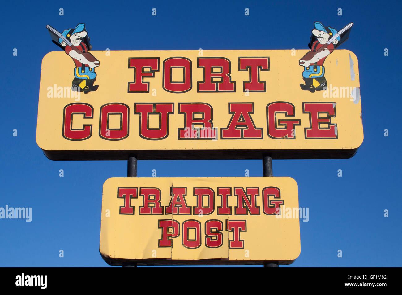 Fort coraggio Trading Post in Arizona Immagini Stock