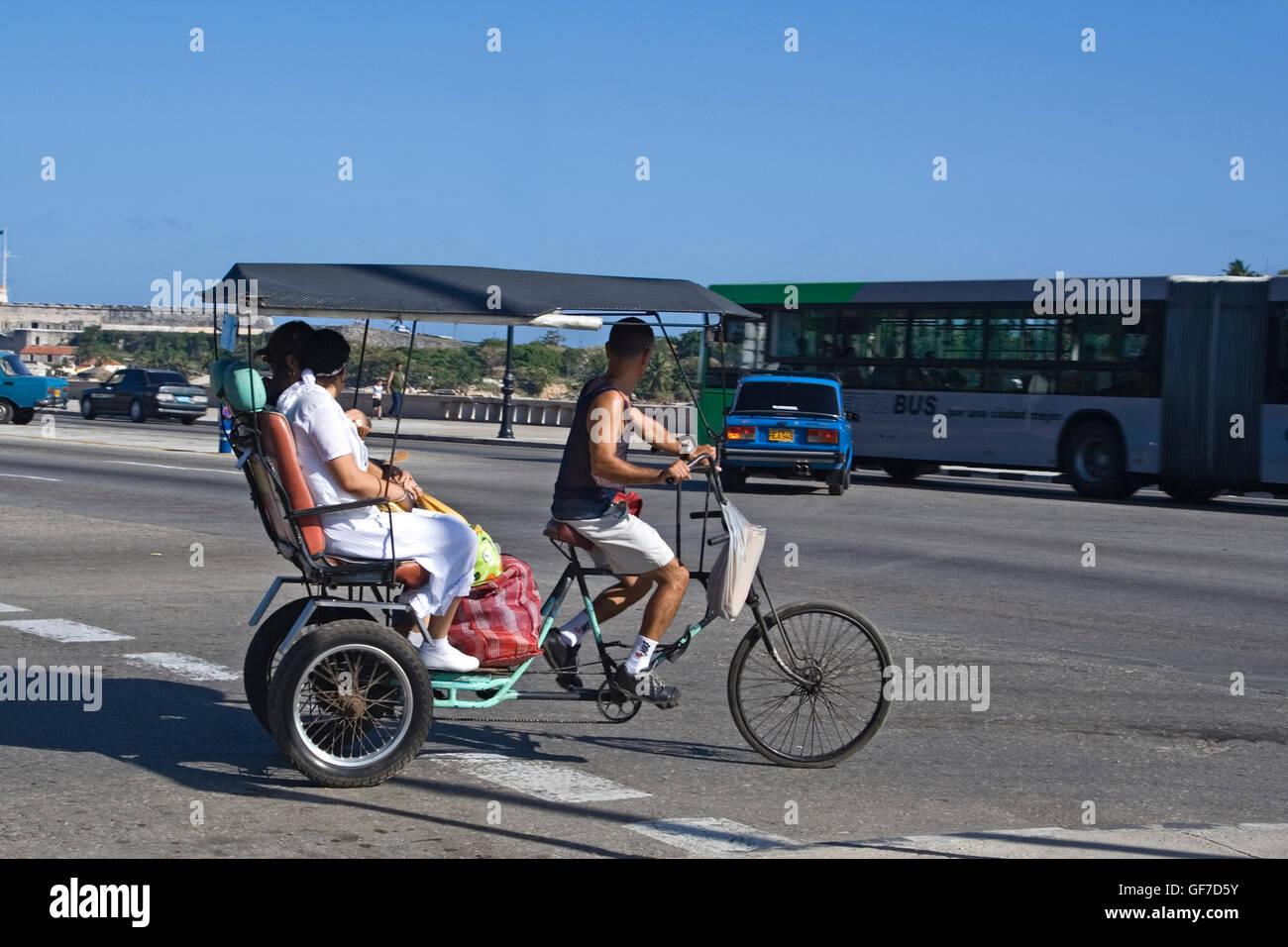 Cuba Havana Velo riksha Immagini Stock